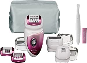 Panasonic ES-WX72-P503 - Depiladora en seco o húmedo, 6 en 1, con recortacejas de regalo (5 cabezales)