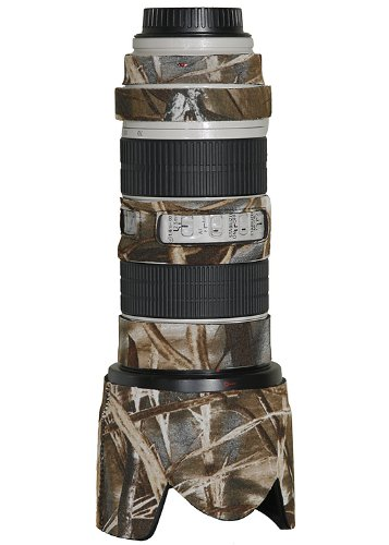 LensCoat Lens Cover for Canon 70-200IS f/2.8 camouflage neoprene camera lens protection (Realtree Max4 HD)