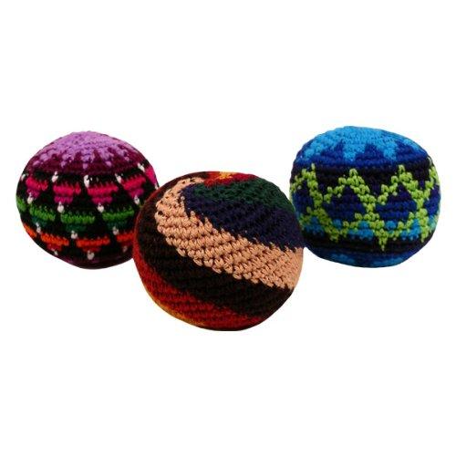 Fair Trade Hacky Sack Three Piece Set 100% Cotton Crochet Assorted