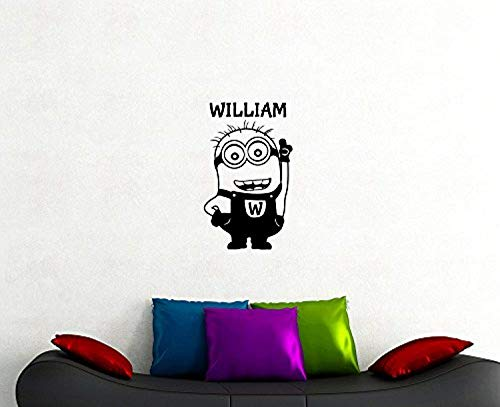 Minion Custom Name Comedy Film Cartoon Characters Personalized