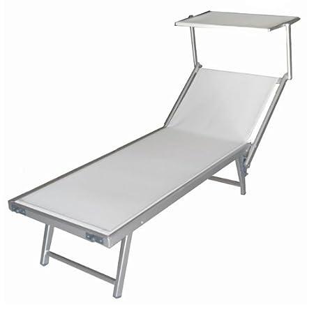 Vendita Sdraio Da Spiaggia.Lettino Da Spiaggia Regolabile Sdraio Prendisole In Alluminio