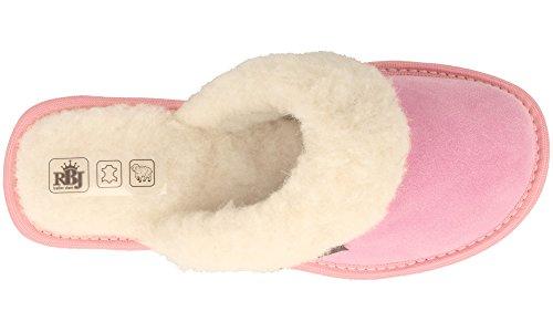Zapatillas De Lana Gamuza Casa con RBJ 40 De Rosa para por Mujer Dentro SqcXd6