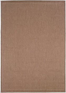 Couristan Natural - Couristan 1001/1500 Recife Saddle Stitch Cocoa/Natural Rug, 3-Feet 9-Inch by 5-Feet 5-Inch