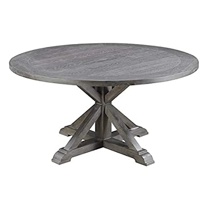 Admirable Amazon Com Pemberly Row Magnolia Rustic Gray 60 Round Gmtry Best Dining Table And Chair Ideas Images Gmtryco