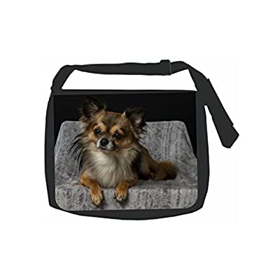 1980a57b59bb Chihuahua Puppy Dog - Black School Shoulder Messenger Bag 70%OFF - e ...