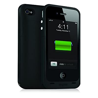 Mophie Juice Pack Plus Case and Rechargeable Battery for iPhone 4 & 4S Retail Packaging by Mophie