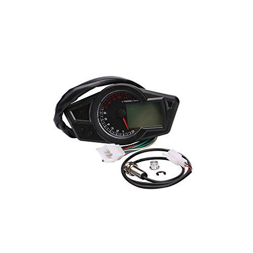 Kkmoon Multifunctional Odometer Motorcycle Lcd Meter Digital Waterproof Speedometer Fuel Gauge Tachometer Minitor Buy Online In Aruba At Aruba Desertcart Com Productid 68336608