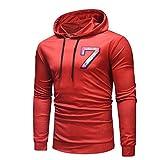 WuyiMC Clearance Sale! Men's Printed Hoodie Casual Long Sleeve Slim-Fit Pullover Hoodie Shirt