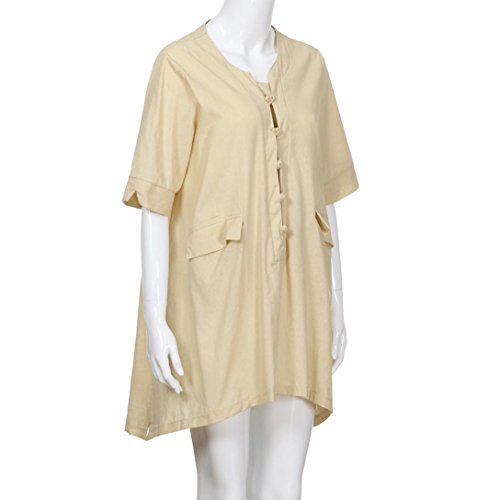 Amazon.com: Gallity Hot Sale Women Plus Size Irregular Loose Linen Half Sleeve Shirt Vintage Tunic Blouse (3XL, Gray) (2XL, Gray): Garden & Outdoor