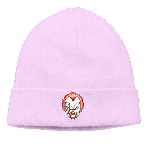 DETO Men's&Women's Clown Patch Beanie TourPink Caps (Womans Dynasty Watch)