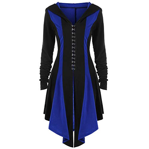 (Gothic Vintage Womens Steampunk Victorian Swallow Tail Long Trench Jacket ,Kstare Overcoat Long Winter Outwear Blue)