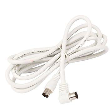DealMux PAL Macho para F conector macho coaxial Antena de TV RF Cable 1.85m 6Ft