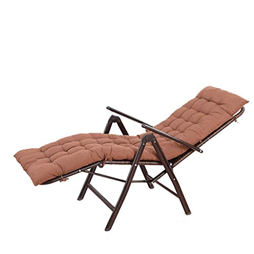 KHL Cotton Pad Three Fold Rattan Chair Recliner Office Lunch Break Chair Elderly Chair Outdoor Rattan Chair Beach Chair Luxury Lounge Chair (Outdoor Lounges Near Me)