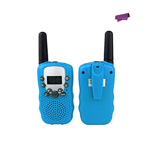 SalesLa 2Pcs Wireless-Walkie Talkie T-388 LCD 2-Wege-Radio(blue)