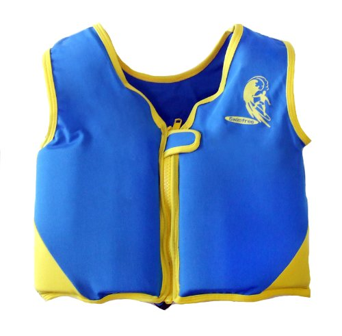 Boys Blue/yellow Swim vest Learn-to-Swim Floatation Jackets Size small for Kids Age 1.5-3.5 Years Old