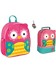 Stephen Joseph Girls Mini Owl Backpack, Lunch Pal and Zipper Pull