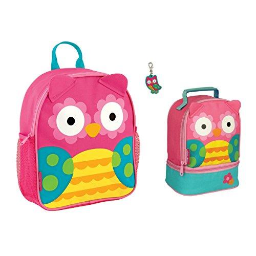 (Stephen Joseph Girls Mini Owl Backpack, Lunch Pal and Zipper Pull)