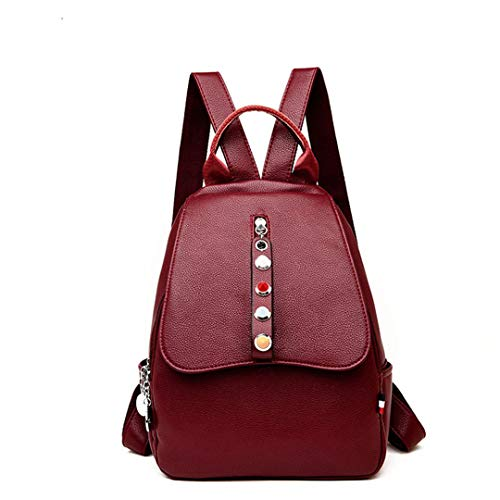 Donne Borsa Zaino Black Mochilas Donna Backpacks Le Daypack Vintage Schoolcasual Femminile Winered Girl Viaggio Da Bagpack Per 1AnrWA