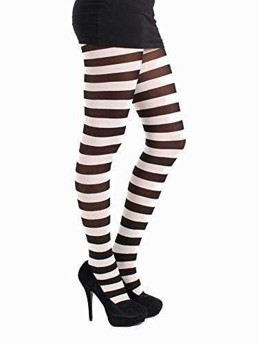 Pamela Mann Twickers Stripe Tights - Hosiery Outlet-One Size-Chocolate (Outlet-männer)