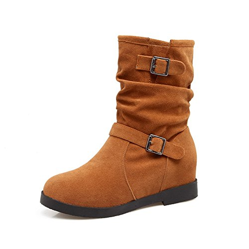 ANDku01711 Marrone 35 Brown Donna EU Neve Stivali da Ox6qOv1