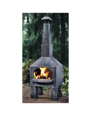 Chiminea On Wooden Deck