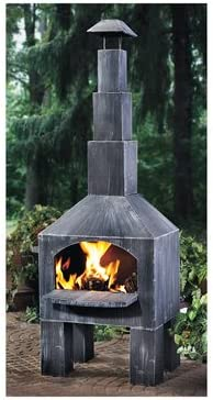 Kotulas Outdoor Cooking Steel Chiminea with Smoke Stack  sc 1 st  Amazon.com & Chimineas | Amazon.com