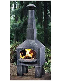 Superb Kotulas Outdoor Cooking Steel Chiminea With Smoke Stack