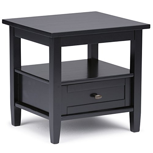 Simpli Home - Warm Shaker End Table - Black