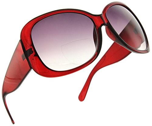 - Fiore Jackie O Bifocal Reading Sunglasses Readers for Women [Burgundy, 1.75]