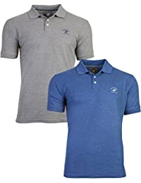 Men's Heritage Pique Polo with Signature Logo (2 Pack)