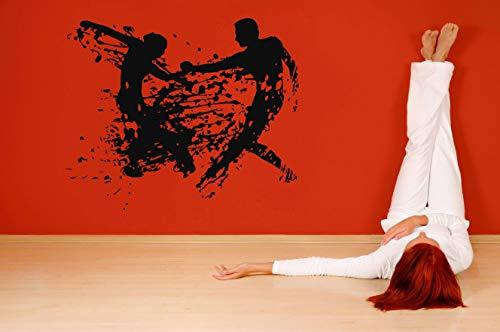 Vinyl Sticker Dancing Couple Abstract Poster Silhouette Dancer Beauty Mural Decal Wall Art Decor SA2781