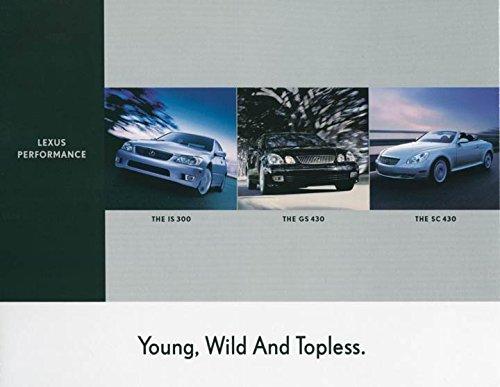 2001 Lexus IS300 GS430 SC430 ORIGINAL Large Factory Postcard