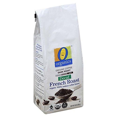 (O ORGANICS Ground Coffee 10oz USDA Organic & Fair Trade Certified 100% Arabica Coffee Hand-picked (2 Pack) (French Roast Decaf))