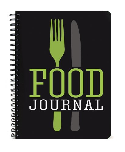 BookFactory Food Journal 5x7-Inch., 120 Pages, Thick Translucent Cover, High Quality Wire-O Binding (JOU-120-57CW-A-Food)