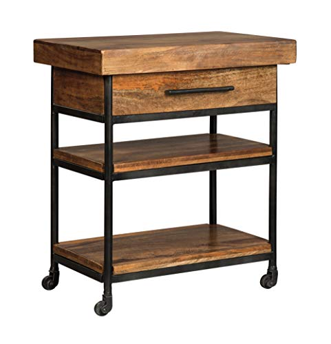 Signature Design by Ashley Glosco Kitchen Cart, Industrial Brown