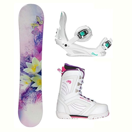 Black Fire Special Lady Purple Cosmo Womens Complete Snowboard Package 2018 - 146cm/7.0