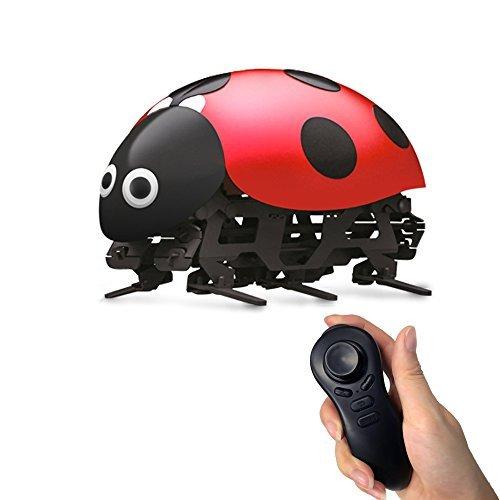 ESGOT F10 Intelligent Robot 2.4GHz DIY Assembled Intelligent Remote Control Ladybug Robot for (Ladybug Robot)