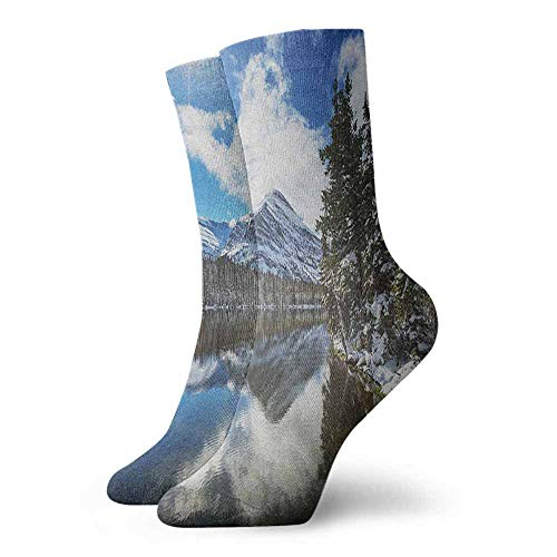 Pressure socks Tranquil View of Glacier National Park in Montana Water Reflection Peaceful Suitable for young people