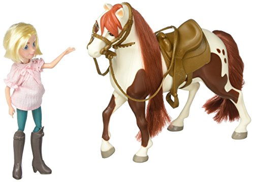 Just Play Spirit Fashion Lucky Dolls Riding Free Small Doll Collector Horse Set