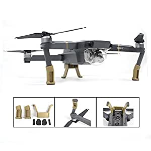 TELESIN Heightened Extended Landing Skid Gear Legs Holder Mount Protective Set For DJI Mavic Pro Accessories-Gold