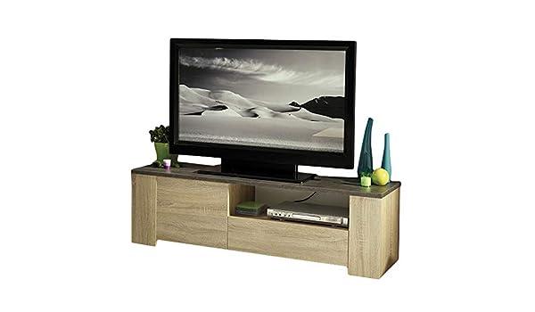 Colour mueble bajo para televisor x 138 cm de madera de roble de habitaciones de niños y jóvenes TV & de alta fidelidad de los medios de comunicación de muebles de estante