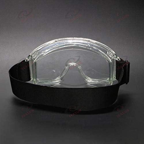 Gafas De Seguridad Antiniebla Gafas Antiniebla Y Antiarañazos, Protección Ocular Ajustable En El Lugar De Trabajo Gafas Para Construcción, Laboratorio, Productos Químicos Peso Ligero(2 pack)