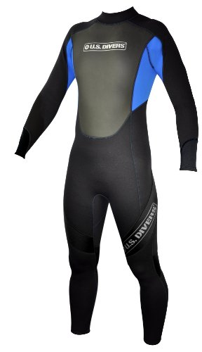 U.S.Divers Adult Full Wetsuit (Black/Blue, X-Large)