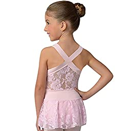 DanzNmotion Little Girls Lace Back Dress
