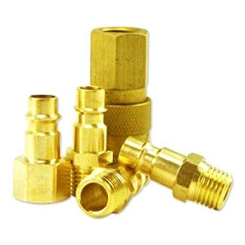 5-Piece Hi-Flo Brass Coupler Set (Flo Gasket)