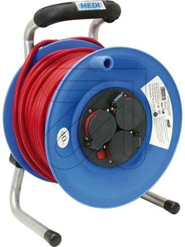 Hedi Cable Reel with 40 M Rubber Cable Red