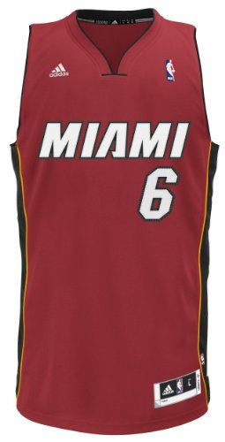 NBA Miami Heat LeBron James Swingman Jersey, Maroon, Medium