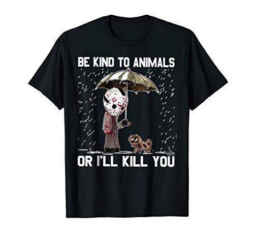 Jason and dog: Be kind to animals or I'll hunt you Halloween