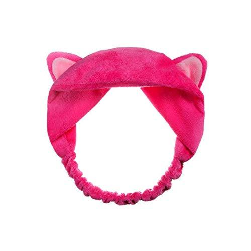 Cat Ear Hair head Band Hairbands headbands Party Gift headdress headwear Hair Accessories,Rose Red -
