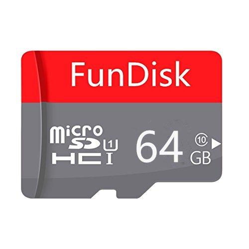 Tarjeta de Memoria SDXC FunDisk, Clase 10, Resistente al Agua, a Prueba de Temperatura. Rosso 128 GB